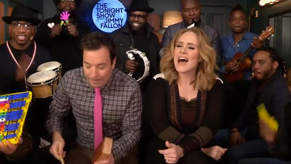 Adele Jimmy Fallon The Roots - Hello Live