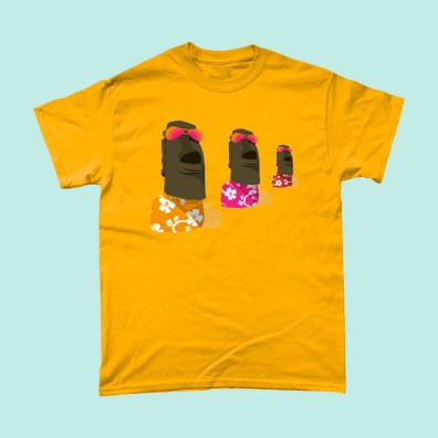 Easter Island Chill T Shirt