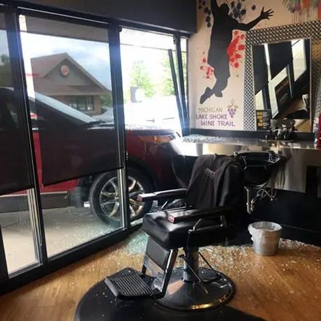Car-crashes-into-Allendale-Judes-Barbershop