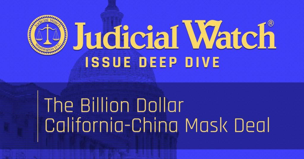 The Billion Dollar California-China Mask Deal