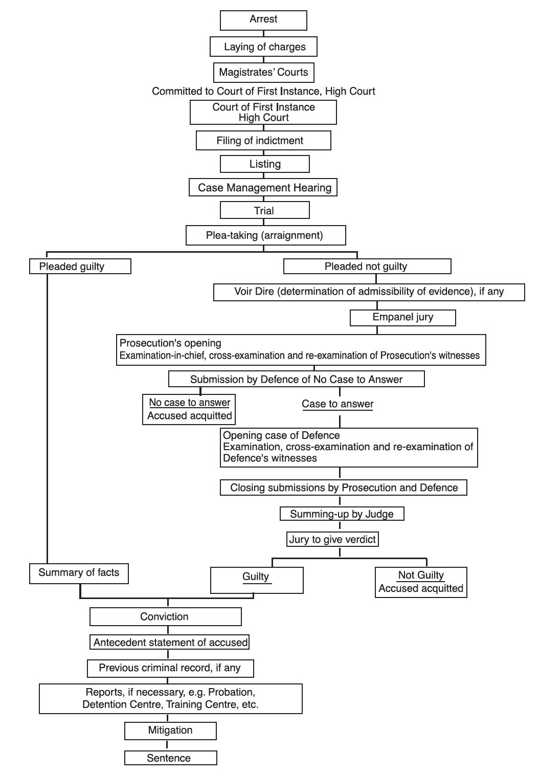 Civil Trial Procedure Flowchart