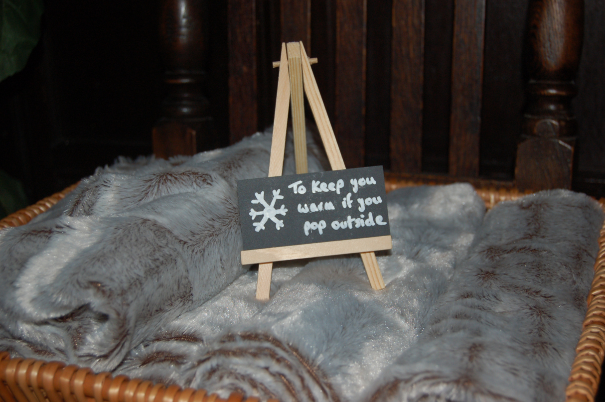 My favourite detail – cosy rugs for guests that need to pop outside into the cold
