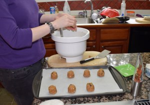 Vania making cookies