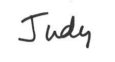 Judy's signature