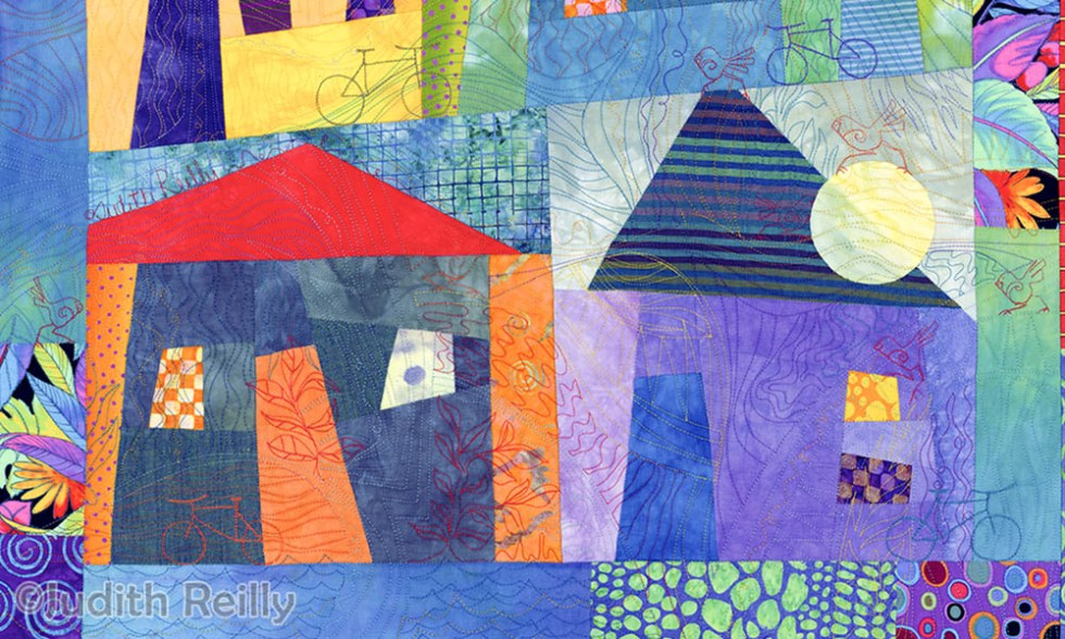 Blue House on the Hill by Judith Reilly