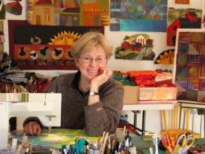 Judith Reilly in her studio