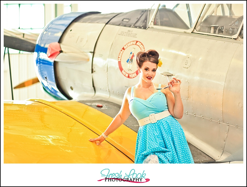 aviation museum photo shoot
