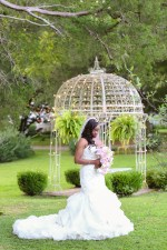 lighted gazeebo bride