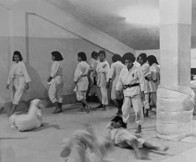Aula de Judô com Keiko Fukuda - © USJF archives
