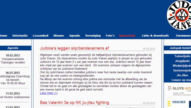 Nieuwe JudoVianen.nl website online