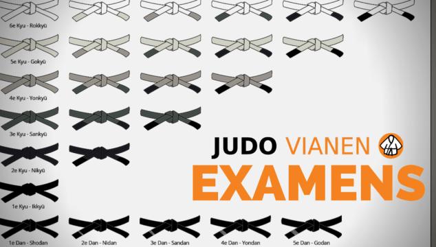 Uitslagen examens judo