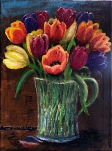 Pot of Tulips