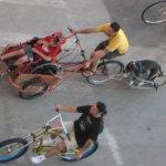 bike with boy & dog