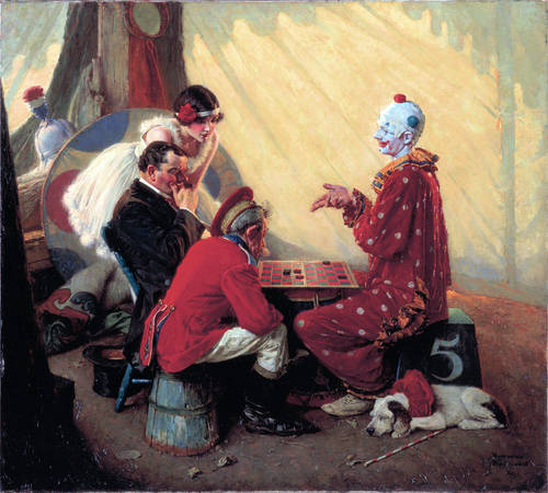 Norman-Rockwell-Checkers-1928