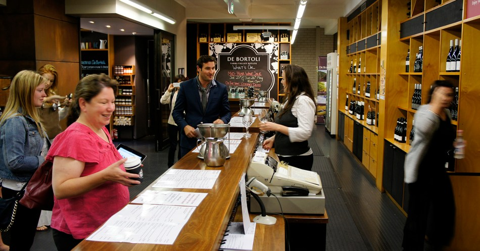 De Bertoli wine tasting