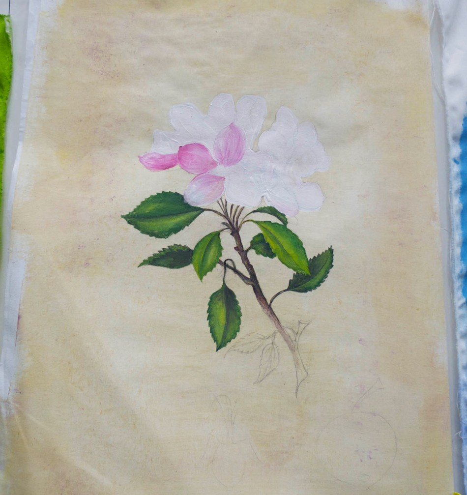 rose on parchment
