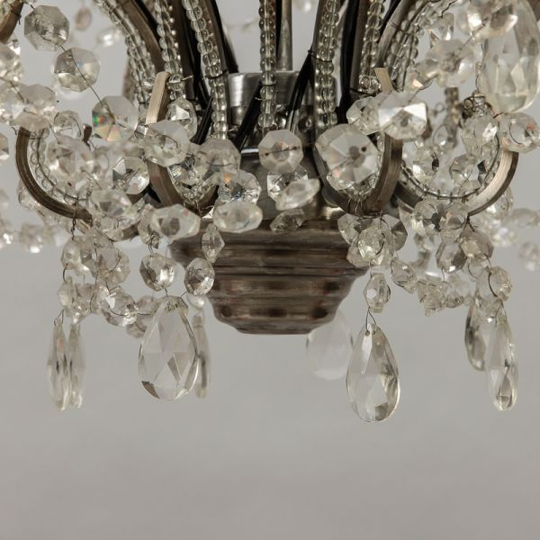 Beaded Frame Chandelier