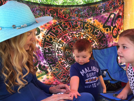 Judy Hevenly palm reading Topanga kids