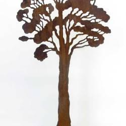 Kapirigi's Tree II, 1460 X 400 X 20 Mm, Rusted Steel On Stainless Steel Base, 2009
