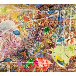Djuwarr Night, 300 X 800mm, Watercolour On Paper, 2015
