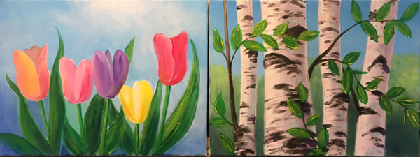 Paint Night Picture Ideas Home Design