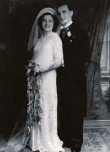 On my parents wedding day, August 1937