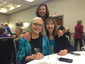 With fellow Sisters in Crime authors Edith Maxwell (L) and Annette Dashovy (R).
