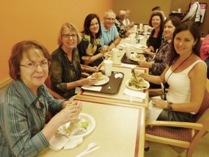 At the Plaza Cafe with members of the Short Mystery Fiction Society