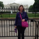 Yes, the White House is far away...but I still got to pose for this photo in front of it!