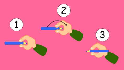 Cómo sostener el lápiz