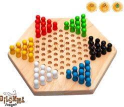 juego de damas chinas hexagonales