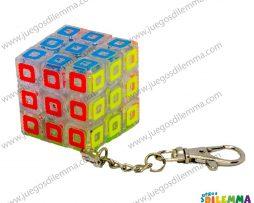 Cubo Rubik Llavero 3x3 Trasparente