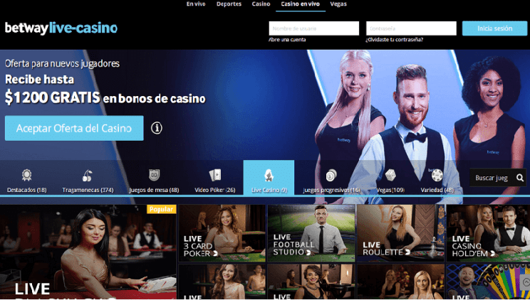 Casino en vivo betway