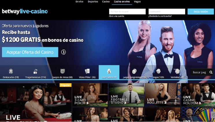 Casino en vivo betway