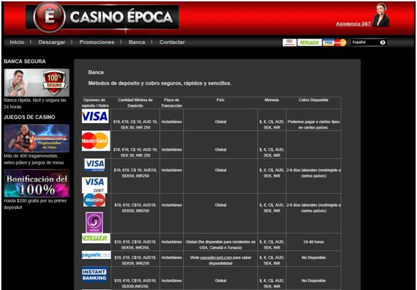 Casino Epoca- banca