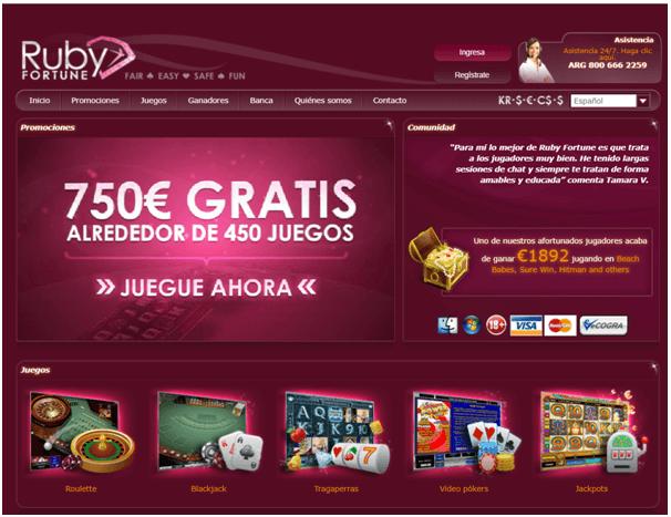 Ruby Fortune casino Juegos