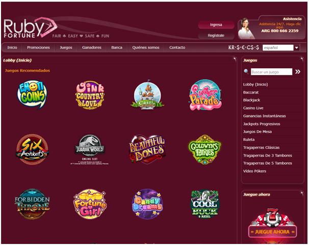 Ruby Fortune casino-juegos