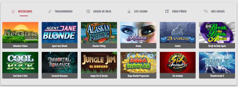 Tragamonedas y Juegos de Mesa Platinum Play Chile