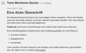Markdown in Trello