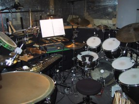 musical cats - drum set up