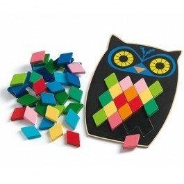Djeco-puzzel-mozaiek-uil