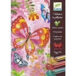 Djeco-glitterschilderij-vlinders