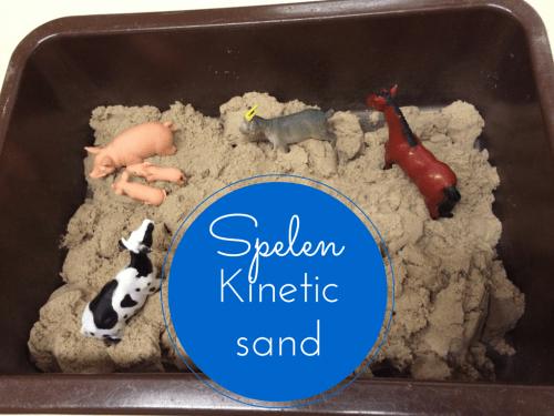 Spelen Kinetic sand