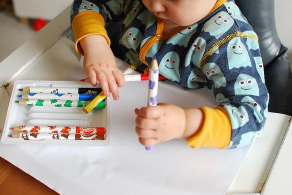 Kleuren met de kleurpotloden van Crayola