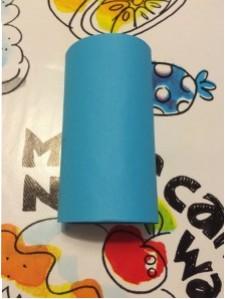 Piet blauw wc rol