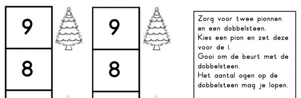 Spel twee rijen kerst