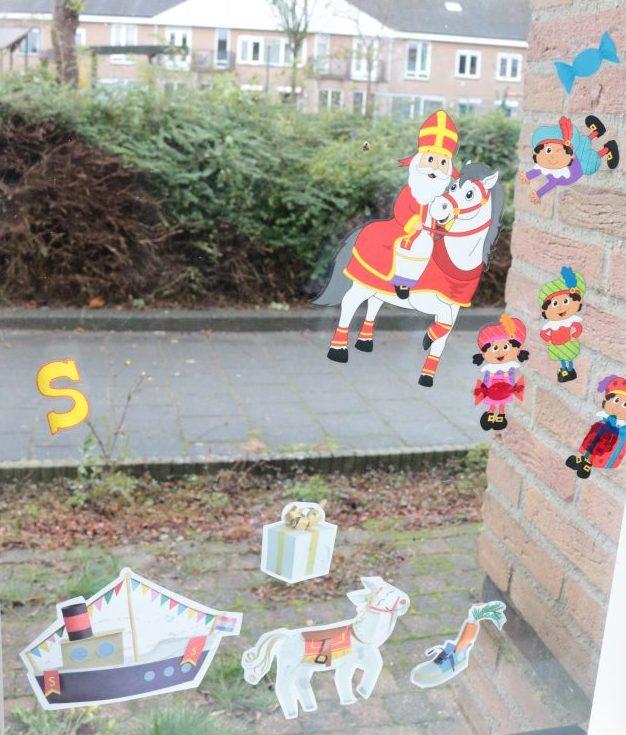 Raamstickers Sinterklaas Action