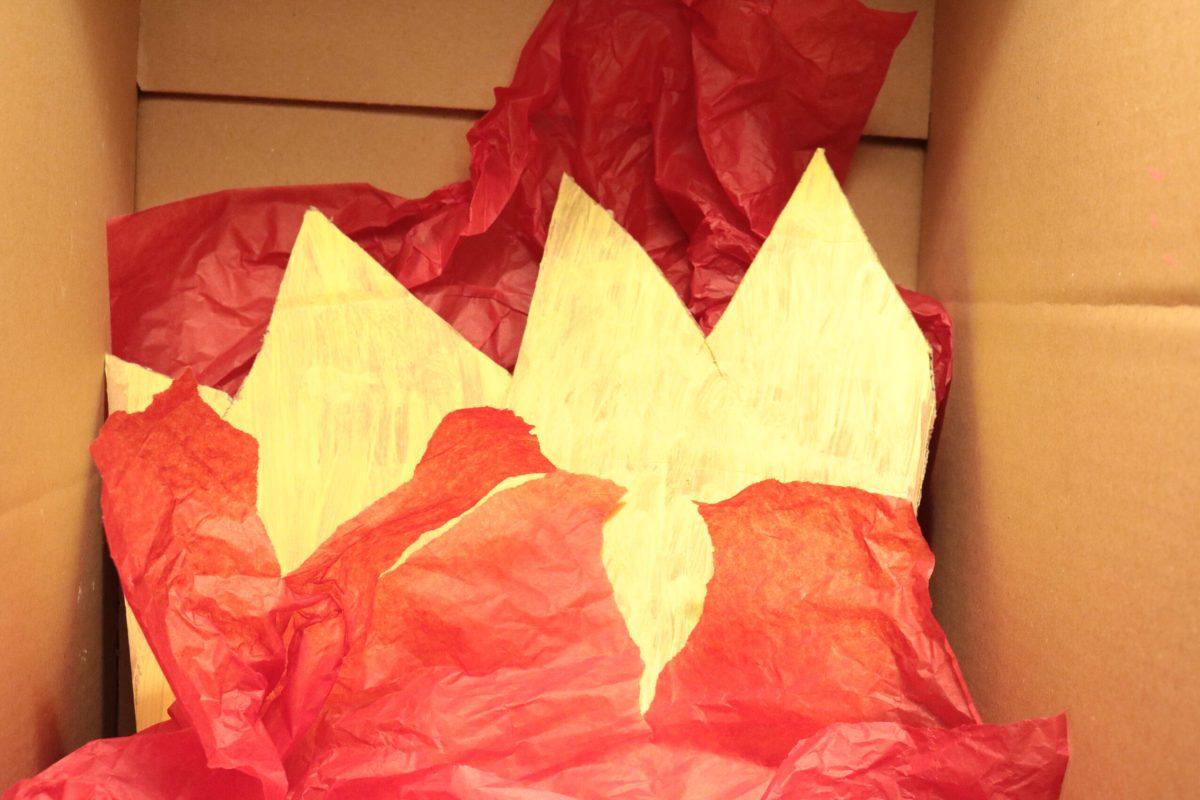 Vlammen van vloeipapier