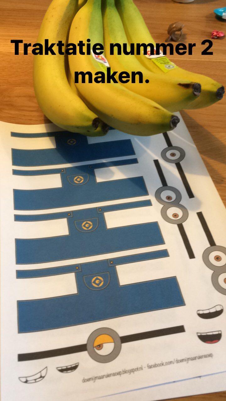 Minion bananen traktatie