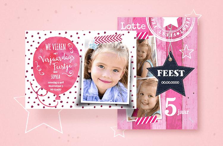 2. Party in pink: uitnodigingen met roze